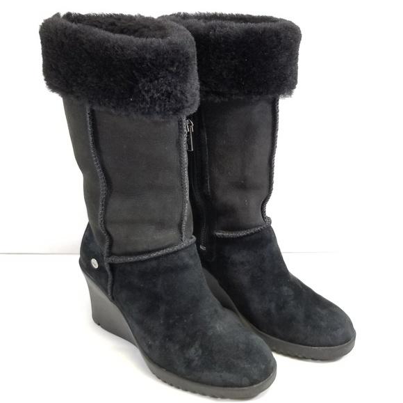b7ab047aa71 UGG Australia 6 Boots Suede Leather & Sheepskin
